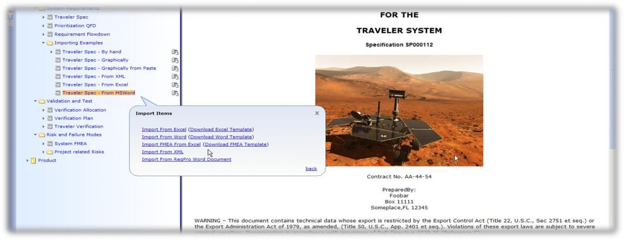 Cockpit Data Migration Screenshot